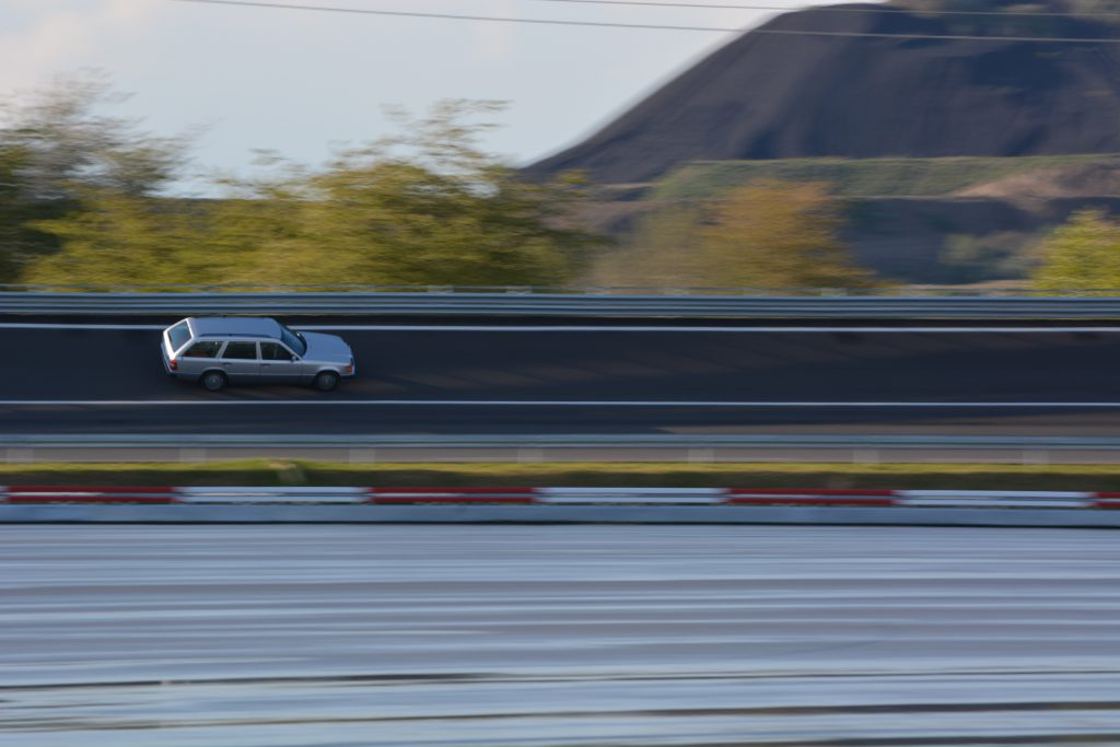 Bewegung-Mercedes-Teststrecke