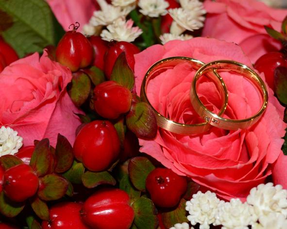 Eheringe-Brautstrauß